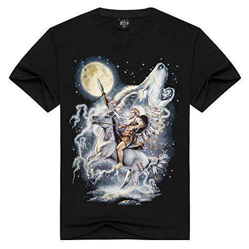 Männer Kompressionshemd Männer Halbes Ärmel Rundes T-Shirt 3D Männer T-Shirt Druck, XXXL Ärmel Runde-shirt