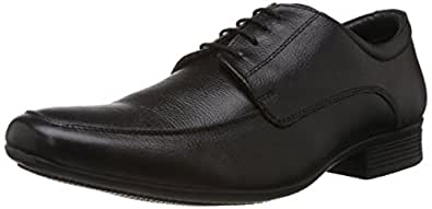 Hush Puppies Men's Adley Lace Up Black Leather Formal Shoes - 10 UK/India (44 EU)(8246825)