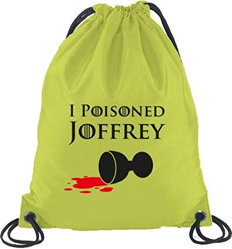 Shirtstreet24, I Poisoned Joffrey, Turnbeutel Rucksack Sport Beutel Limone