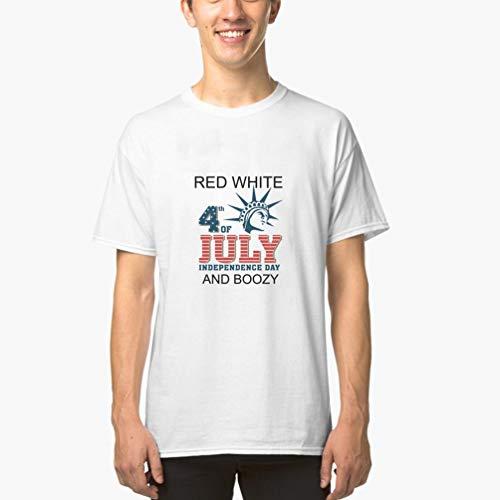 T-Shirt Herren Sommer Oberteile Der vierte Juli-Flaggen-Grafik-Druck das T-Stück der patriotischen USA-Flaggen-Männer(Can Custom-Made Pattern) (Color : Weiß, Size : S)