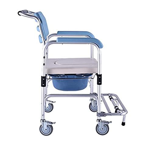 SHKD Healthcare Folding Portable Fixed Height Mobile Kommode und über