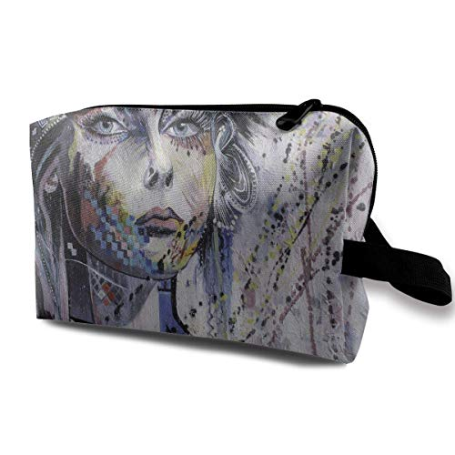 Travel Hanging Cosmetic Bags Fantasy Portrait of A Girl Multi-Functional Toiletry Makeup Organizer