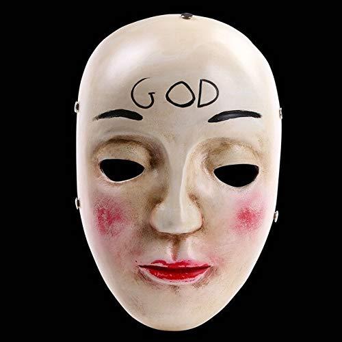 überqueren beängstigend Halloween Masken Cosplay Party Prop Collection Vollgesichts Harz gruseligen Horrorfilm Masque, Gott ()
