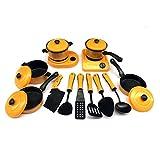 9/11/12/pezzi da bambini fingere giocattoli, Greatestapk 1set educativo mini giallo cucina casa pentole Gift