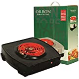 ORBON 2000 Watt Vintage Klassic Textured Black With ON-OFF Indicator G Coil Stove Hot Plate Induction Cooktop/Induction Cookers/Electric Cooking Heater/Induction Radient Cooktop ( MADE IN INDIA )( HUGE DIWALI DISCOUNT & FREE SHIPPING )