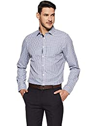 Excalibur by Unlimited Men's Plain Regular Fit Formal Shirt