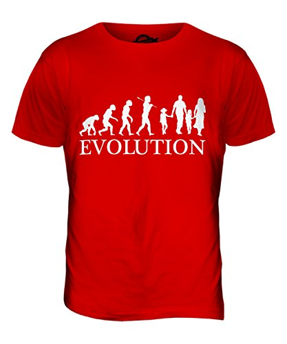 CandyMix Glückliche Familie Evolution Des Menschen Herren T Shirt Rot