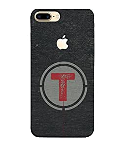 Fuson Designer Back Case Cover for Apple iPhone 7 Plus (Logo View Window Case) (Name Pattern Round Circle Red)
