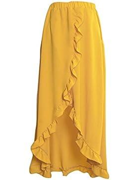 Mujer Resort desgaste de la falda maxi largo de la falda de la playa del desgaste del verano Highdas