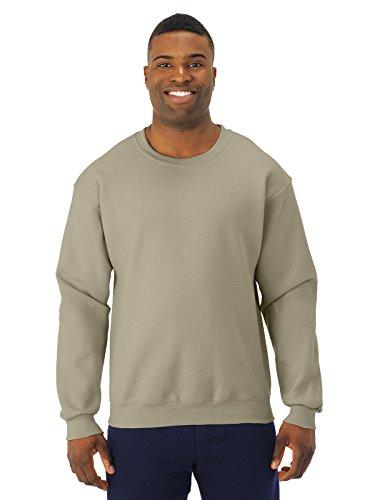 Adult 9.5 oz., Super Sweats� NuBlend� Fleece Crew KHAKI M (Baumwolle-khaki Jerzees)