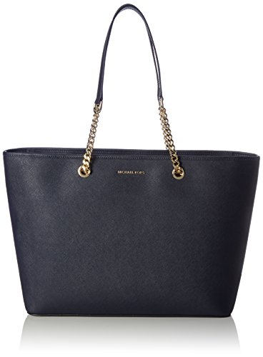 Michael Michael Kors Jet Set Medium Tote (Michael Kors Damen Jet Set Travel Chain Medium Top Zip Multifunction Tote, Blau (Admiral), 14 x 29 x 37 cm)