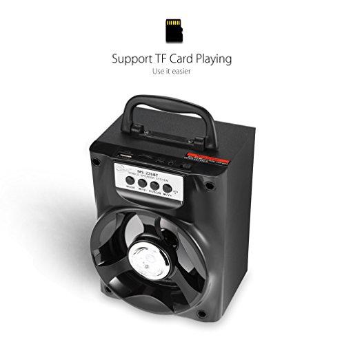 Hykis - bewegliche Multifunktions-Bluetooth-Lautsprecher Big Drive Unit Bass Bunte Hintergrundbeleuchtung FM Radio-Unterst¨¹tzung AUX 3.5mm USB-TF-Karte Palyer