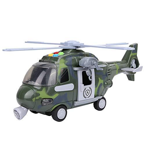 Zerodis- Helicóptero de Juguete, niños, luz eléctrica, música, nar