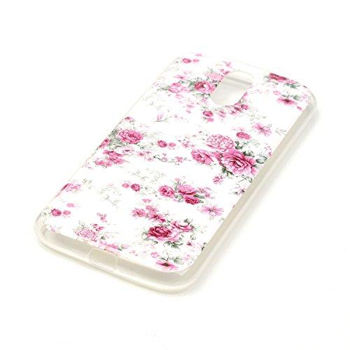 Qiaogle Téléphone Coque - Soft TPU Silicone Housse Coque Etui Case Cover pour Apple iPhone 5C (4.0 Pouce) - YH30 / Mignon chat sac dos YH18 / Pink Mini Rose