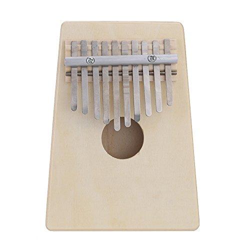 Andoer, Mbira / Daumenklavier, 10 Metallzungen, Pinienholz, Musikinstrument / Schule / Spielzeug, für Musikliebhaber und Anfänger