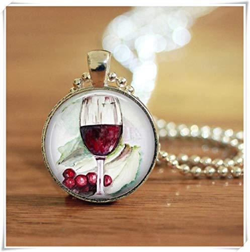 Weinliebhaber-Schmuck, Weinglas-Schmuck, Wein-Schmuck, Wein-Halskette, ein schönes Geschenk.