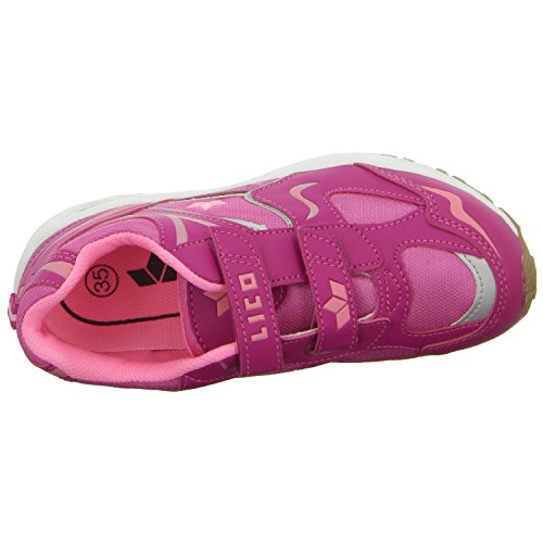 Lico  BOB V, Chaussures spécial sport en salle pour fille Rouge - Rot (Pink)