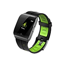 ATEU X1 IP68 Waterproof Smart Watch GPS Fitness Tracker Multiple Sports Mode Heart Rate Weather Forecast Bluetooth Smart Watch for Android iOS