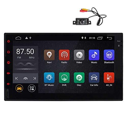 -Zoll-Multi-Touch-IPS-Display mit Quad-Core 2GB + 16GB Universal-2 DIN Car Head Unit Multimedia GPS Navigator Stereo-Radio mit USB SD-Anschluss Bluetooth 4.0 OBD DAB ()