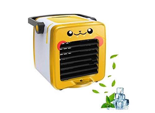 Mini-Luftkühler, Tragbare 3-In-1-Usb-Raumklimaanlage, Luftbefeuchter, Luftreiniger, Desktop-Lüfter Für Office Home Outdoor-Reisen,C,A (Luftbefeuchter, Outdoor-sensor)