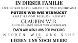 dekodino Wandtattoo Spruch Familienregeln