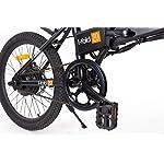 i-Bike-I-Fold-20-Bicicletta-Ripiegabile-Elettrica-con-Pedalata-Assistita-Uomo-Ruote-da-20-Nero