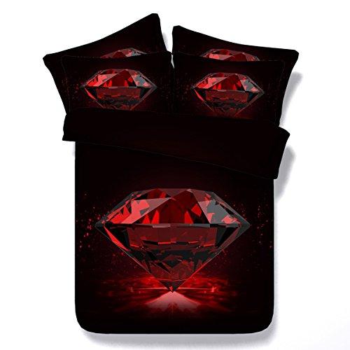 3d Diamanten Druck Bettwäsche Set Schlafzimmer Luxus Doppel Duvet Set Hochzeitsgeschenk 3 Stücke (Duvet-set Luxus-bettwäsche)