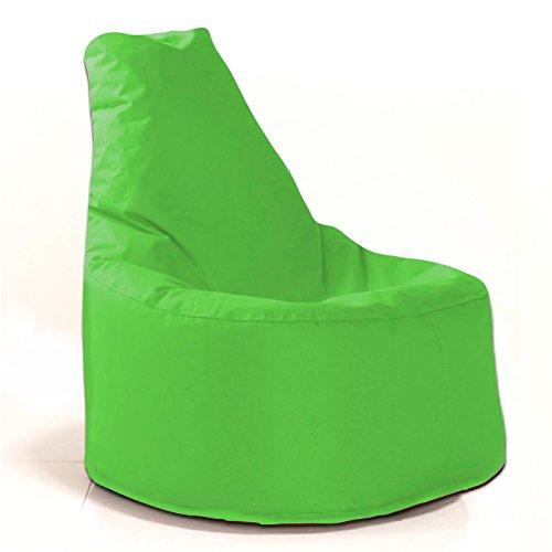 Sitzsack Sessel - für Kinder und Erwachsene - In & Outdoor Sitzsäcke Kissen Sofa Hocker Sitzkissen Bodenkissen mit Styropor Füllung - verschiedene Farben - Bean Bag Sitzsäcke Möbel Kissen (Hellgrün)