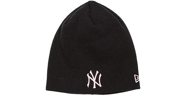 New Era NY Yankees Skull Black Pink Woman Beanie  Amazon.co.uk  Clothing 17b3addda797