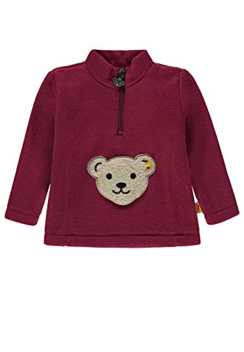 Steiff Mädchen 1/1 Arm Fleece Sweatshirt, Rot (Anemone|Red 2144), 92 Fleece-armee Pullover