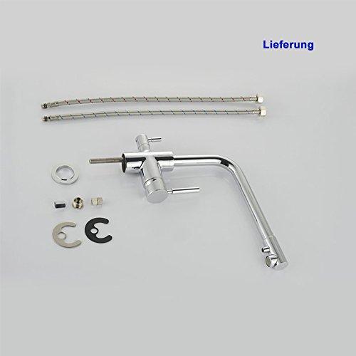 Homelody – Küchenarmatur mit Wasserfilter-Funktion, 360° drehbar, Chrom - 8