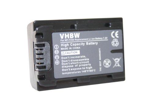vhbw Akku 500mAh (7.2V) für Camcorder Kamera Sony DCR-HC53(E), DCR-HC62(E), DCR-HC96(E), DCR-SR32(E), DCR-SR35(E) wie NP-FH40, NP-FH50.