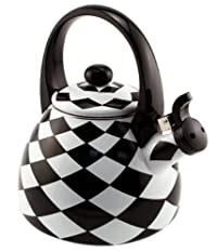 Supreme Housewares Stainless Steel Black Diamond Whistling Tea Kettle