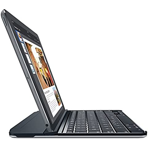 Logitech Ultrathin - teclados para móviles (Inalámbrico, Bluetooth, Apple, iPad Air 2, Inglés del Reino Unido, Gris)
