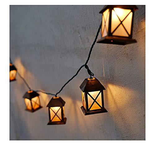 Solar Outdoor Retro Haus Lichterkette, Wasserdichtes Intelligentes Lichtsteuerungslicht, Geeignet Für Die Installation Auf Straße, Haustür, Fahrbahn