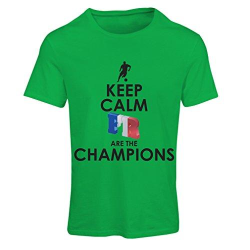 Frauen T-Shirt Franzosen sind die Meister - Russlandmeisterschaft 2018, Weltcup-Fußballmannschaft, Frankreich-Fanhemd (Medium Grün Mehrfarben)