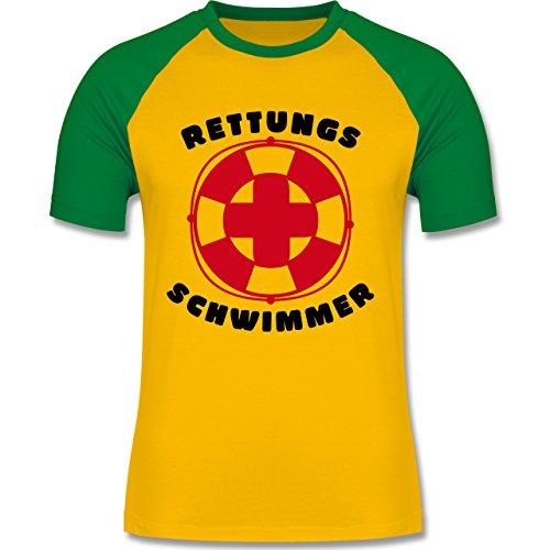 Wassersport - Rettungsschwimmer - zweifarbiges Baseballshirt für Männer Gelb/Grün