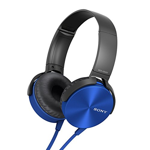Sony MDR XB-450 Extra Bass Foldable Headphones (Blue)