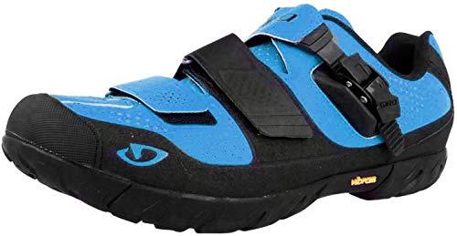 Giro Terraduro MTB, Mountainbike Schuhe für Herren, Herren, Schwarz, Blau (Blue Jewel/Black), 39