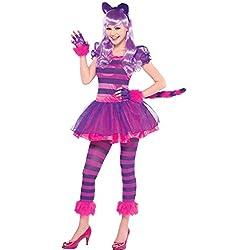 Disfraz de gato alicia en el pais de las maravillas para niñas, 10-12 años (999448)