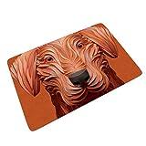 Xuanwuyi-Mat tapete de Goma para Puerta Delantera de Perro, para Entrada, diseño de Perro, Blanco, 18x30 Inch