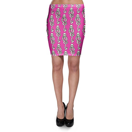 Dark Mark Bodycon Skirt Rock XS-3XL Hot Pink