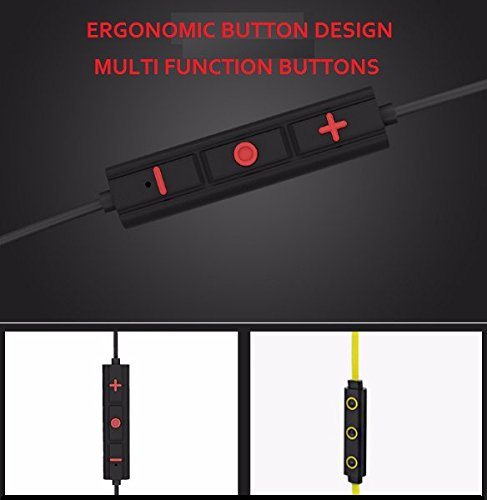 e5316ceb9bf ... FREESOLO S11 Wireless Bluetooth 4.1 in-Ear Noise Isolating Sport Earbuds  with Mic and Controller ...