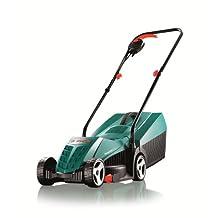 Bosch Rotak 32R Electric Rotary Lawnmower, 0600885B70, Green & Black, 32 cm Cutting Width
