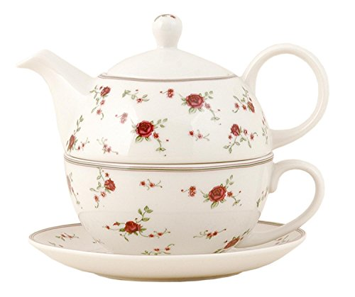 Clayre & Eef LPRTEFO Tea for one Teekanne & Tasse Rose