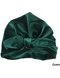 WISH4U Neonate Toddler Morbido Cotone Cappelli Orecchie di Coniglio  Headwrap Turbante Neonato Accessorio cap per 3 25a9ae2c4dee