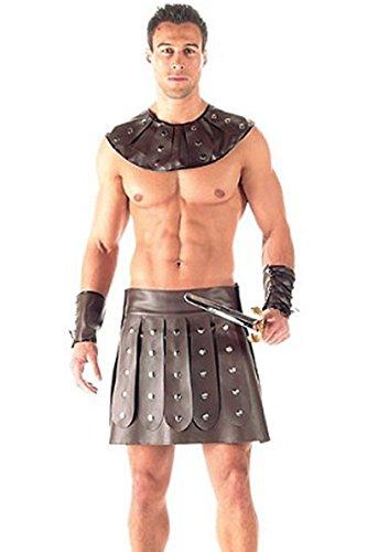 Herren Gladiator Kostüm - Top Totty Herren-Gladiator-Kostüm, aus Vinyl, 3-teilig Gr. M, large