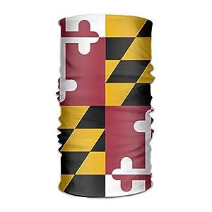 Zzxi Unisex Maryland Flag Multifunction Changed Headwear Headscarf Bandanas