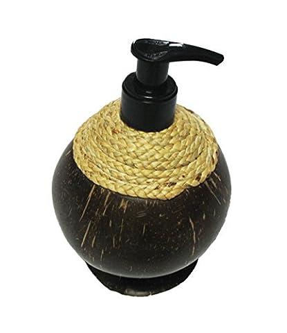 Exotique Elegance Distributeur de savon Pompe en coquille de noix de coco ^rechargeable vide avec pompe