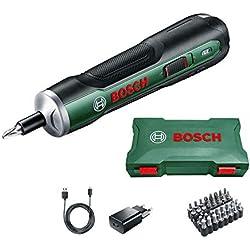 Bosch 06039C6000 PushDrive Visseuse avec batterie 1,5 Ah 3,6 V Vitesse de rotation à vide 360 tr/min dans boîte de rangement 3,6 V 3,6 V